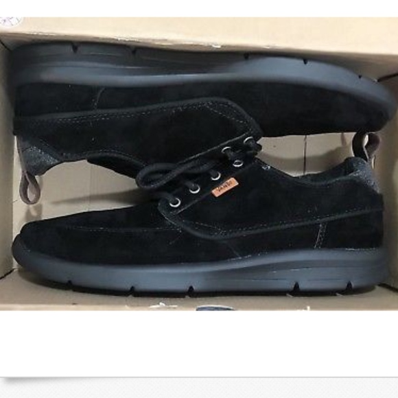 10fb5e20cd018b Vans Brigata Lite Suede Black Chambray Shoes